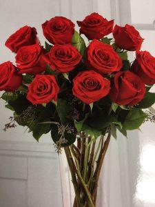 Dozen Roses in a Vase - $89